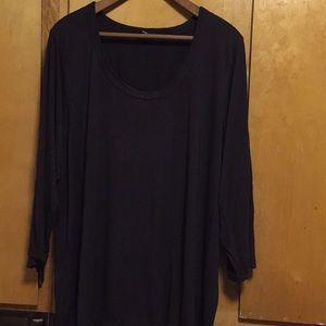Brown knit blouse